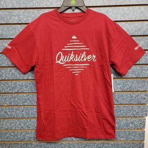 QUICKSILVER RED SHIRT SZ M